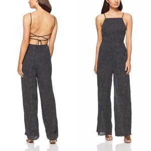 Finders Keepers Solar Lace Up Polka Dot Jumpsuit